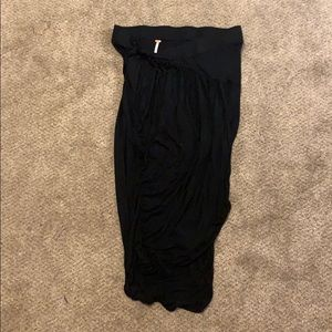 Free People Black fitted Skirt Sz L